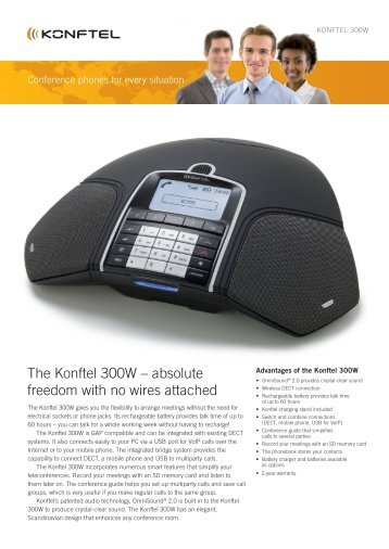 the Konftel 300W – absolute freedom with no wires attached
