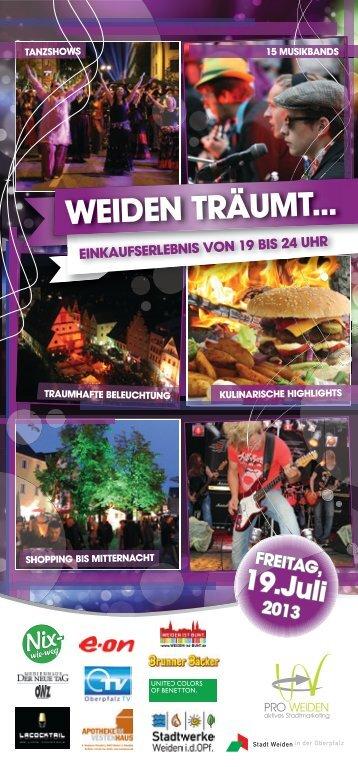 WEIDEN TRÄUMT... - Pro Weiden e.V.