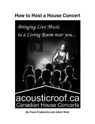 How to Host a House Concert - AcousticRoof.ca