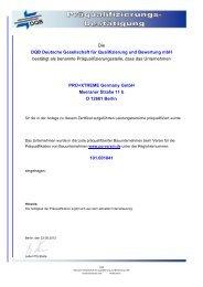 Präqualifikation PRO+XTREME Reg.Nr. 101.001841