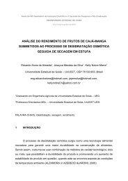 análise do rendimento de frutos de cajá-manga ... - PrP - UEG.