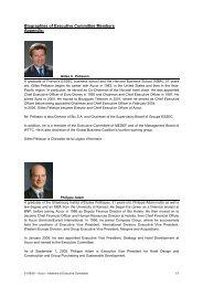 Biographies of Executive Committee Members Appendix: - PR-Plus