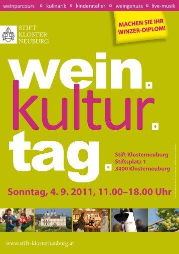 Sonntag, 4. 9. 2011, 11.00–18.00 Uhr - PR-Plus