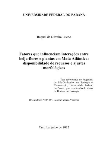 Raquel de Oliveira Bueno - PRPPG - Universidade Federal do Paraná
