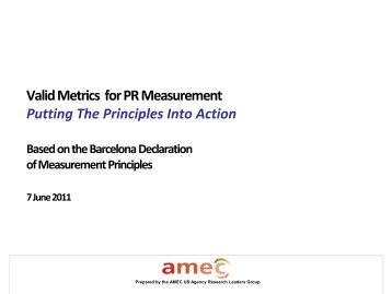 Valid Metrics for PR Measurement: Putting The Barcelona Principles ...