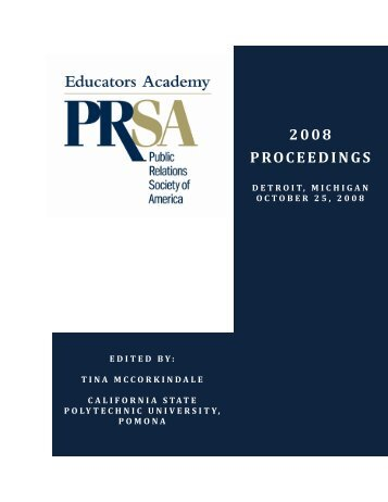 2008 PROCEEDINGS - Public Relations Society of America