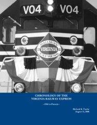 CHRONOLOGY OF THE VIRGINIA RAILWAY EXPRESS - PRTC