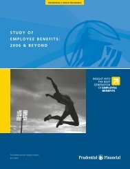 STUDY OF EMPLOYEE BENEFITS: 2006 & BEYOND - Prudential