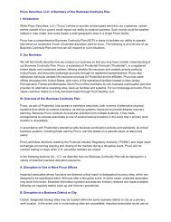 Pruco Securities, LLC: A Summary of Our Business ... - Prudential