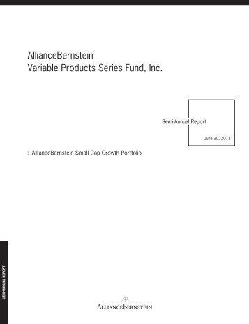 AllianceBernstein Variable Products Series Fund, Inc. - Prudential
