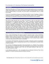 Pruco Securities, LLC - Prudential