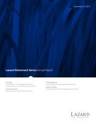 Lazard Retirement Series Annual Report - Lazard Funds