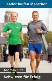 Schwitzen für Erfolg Leader laufen Marathon - Andreas Butz