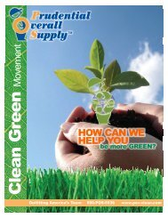 to view the Clean Green brochure - Prudential Overall Supply