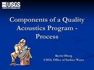 Components of a Quality Acoustics Program - Process