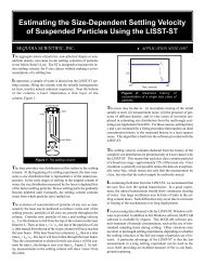 Estimating the Size-Dependent Settling Velocity of Suspended ...