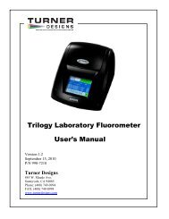 Trilogy Laboratory Fluorometer User's Manual - Turner Designs