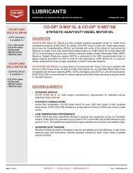 CO-OP ® D-MO SL & SB Synthetic Heavy-duty Diesel Motor Oil