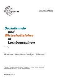 Sozialkunde und Wirtschaftslehre in ... - Europa-Lehrmittel