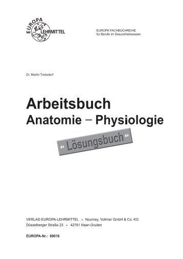 Arbeitsbuch Anatomie − Physiologie