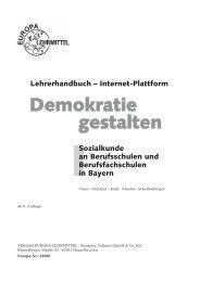 Demokratie gestalten - Europa-Lehrmittel