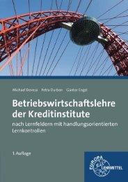 Leseprobe Bankbetriebslehre - Europa-Lehrmittel