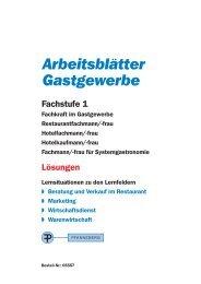 Arbeitsblättern für das Gastgewerbe – Fachstufe 1 - Europa-Lehrmittel