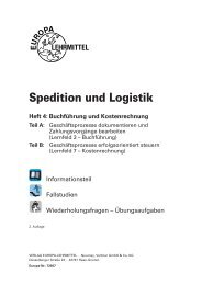 Leseprobe & Inhaltsverzeichnis - Europa-Lehrmittel