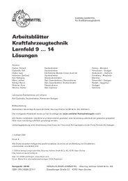 Arbeitsblätter Kraftfahrzeugtechnik Lernfeld 9 ... - Europa-Lehrmittel