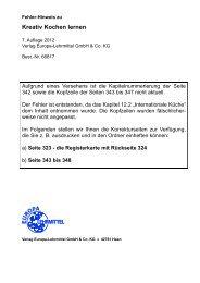 Kapitelnummerierung der Seiten 343 bis 368 - Europa-Lehrmittel
