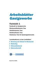 Arbeitsblätter Gastgewerbe - Europa-Lehrmittel