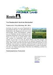 Route 26 Nimshuscheid Beschreib mit Karte