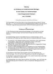 Satzung zur Erhebung von wiederkehrenden Beiträgen für den ...