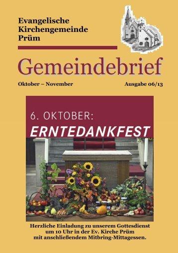 Gemeindebrief Oktober-November 2013 - Prüm aktuell