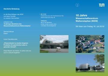 10 Jahre - Personalrat der TUM Weihenstephan