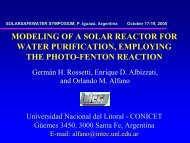 modeling of a solar reactor for water purification, employing