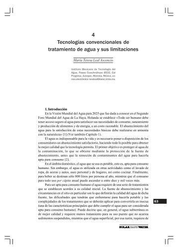 4 Tecnologías convencionales de tratamiento de agua y sus ...