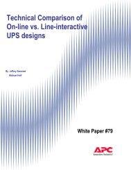 Technical comparison of On-line vs. Line-interactive UPS designs