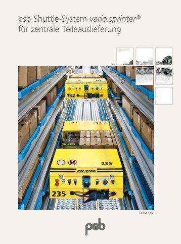 psb Shuttle-System vario.sprinter ® für zentrale ... - psb GmbH