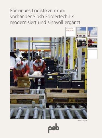 Für neues Logistikzentrum vorhandene psb ... - psb GmbH