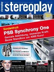 stereoplay 4/11: Synchrony One - PSB Lautsprecher Deutschland
