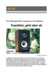 Pupsklein, geht aber ab - PSB Lautsprecher Deutschland