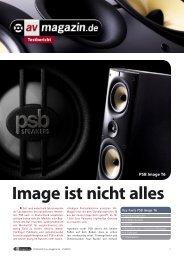 av magazin 1/10: Image T6 - PSB Lautsprecher Deutschland
