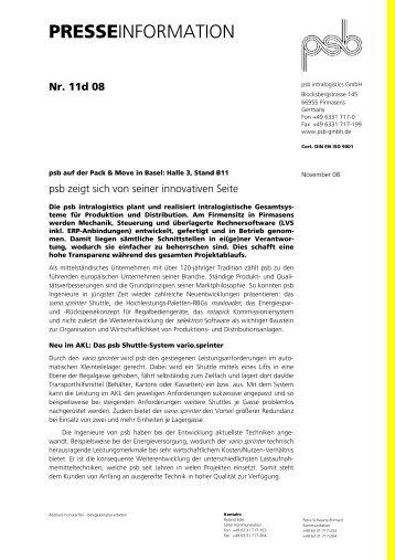 presseinformation - psb GmbH