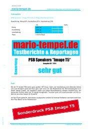 mario-tempel.de 8/11: Image T5 - PSB Lautsprecher Deutschland