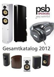 Gesamtkatlog 2012 - PSB Lautsprecher Deutschland