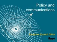 Policy and communications