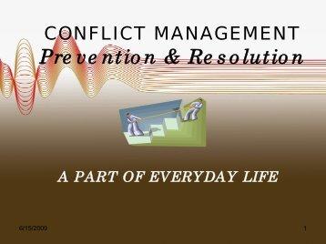 Conflict Management - Prevention & Resolution [1042.88 KB ]