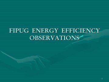 John McWhirter FIPUG ENERGY EFFICIENCY...