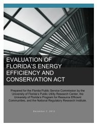 evaluation of florida's energy efficiency and conservation act